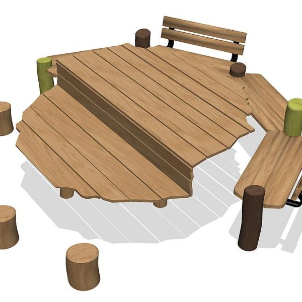 """Стол со скамьями """"Ной"""" 54511805306 купить в Алматы"""